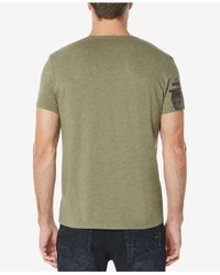 Buffalo David Bitton - Green Tirage Logo-print V-neck T-shirt for Men - Lyst