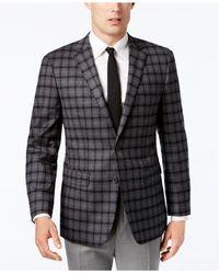 Vince Camuto - Men's Slim-fit Stretch Gray Multi-plaid Sport Coat for Men - Lyst