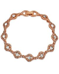 Charter Club - Pink Rose Gold-tone Crystal Link Bracelet, Created For Macy's - Lyst