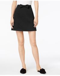 Maison Jules - Black Bowtie Skirt, Created For Macy's - Lyst