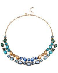 Carolee - Metallic Gold-tone Multi-stone Collar Necklace - Lyst