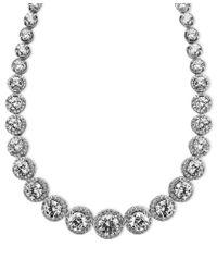 Arabella | Multicolor Sterling Silver Necklace, Swarovski Zirconia Necklace (55-1/3 Ct. T.w.) | Lyst