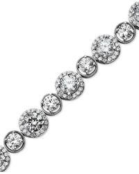Arabella | Metallic Sterling Silver Bracelet, Swarovski Zirconia Bracelet (22-9/10 Ct. T.w.) | Lyst