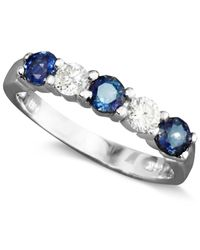 Effy Collection - Metallic Sapphire (7/8 Ct. T.w.) And Diamond (1/4 Ct. T.w) Band In 14k White Gold - Lyst