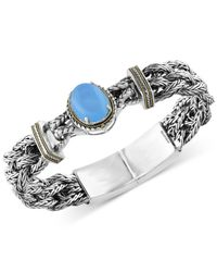 Effy Collection - Metallic Chalcedony (6-9/10 Ct. T.w.) Braided-style Bracelet In Sterling Silver With 18k Gold Accents - Lyst