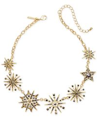 INC International Concepts - Metallic Gold-tone Mixed Pavé Star Statement Necklace - Lyst