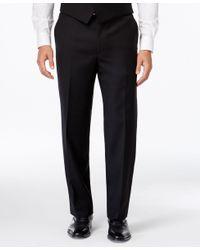 Lauren by Ralph Lauren - Black Solid Classic-fit Dress Pants for Men - Lyst