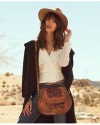 Patricia Nash - Metallic Arezzo Painted Saddle Bag - Lyst