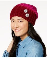 Echo - Blue Ombré Embellished Slouchy Beanie - Lyst