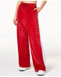 Fila - Red Bonnie Velour Pants - Lyst