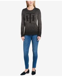 Tommy Hilfiger - Multicolor Metallic High-low Sweater - Lyst