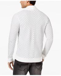 INC International Concepts - White Men's Textured Cardigan for Men - Lyst