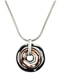 Nine West | Metallic Necklace, Tri Tone Orbital Pendant | Lyst