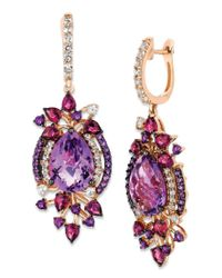 Le Vian | Multicolor Crazy Collection Multi-stone Drop Earrings In 14k Strawberry Rose Gold (13-1/2 Ct. T.w.) | Lyst