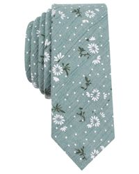 Original Penguin - Green Men's Larno Floral Skinny Tie for Men - Lyst