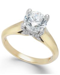X3 | Metallic Certified Diamond Solitaire Engagement Ring In 18k White Gold (1-1/2 Ct. T.w.) | Lyst