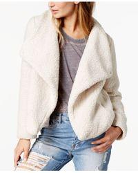 Jack BB Dakota - White Faux-fur Sherpa Fleece Jacket - Lyst