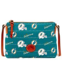 Dooney & Bourke - Blue Miami Dolphins Nylon Crossbody Pouchette - Lyst