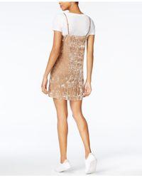 Kensie - Multicolor Velvet Layered-look Slip Dress - Lyst