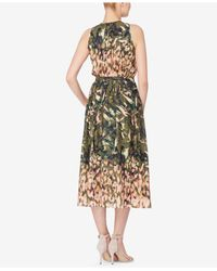Catherine Malandrino - Multicolor Printed Fit & Flare Dress - Lyst