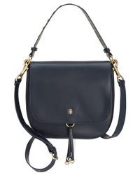 Tommy Hilfiger - Blue Effortless Chic Star-studded Small Saddle Bag - Lyst