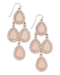 INC International Concepts | Pink Gold-tone Jet Black Teardrop Chandelier Earrings | Lyst