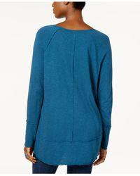 Style & Co. - Blue Petite Seamed Handkerchief-hem Top - Lyst