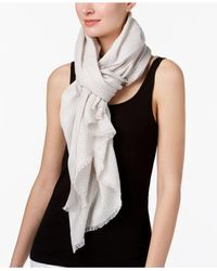 Eileen Fisher - Multicolor Printed Fringe Scarf - Lyst