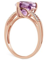 Macy's - Purple Amethyst (3-1/5 Ct. T.w.) & Diamond Accent Ring In 14k Rose Gold - Lyst