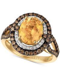 Le Vian - Metallic Chocolatier® Yellow Beryl (1-3/4 Ct. T.w.) And Diamond (3/4 Ct. T.w.) Ring In 14k Gold - Lyst