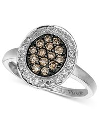 Le Vian - Brown Diamond Chocolate And White Diamond Oval (3/8 Ct. T.w.) In 14k White Gold - Lyst