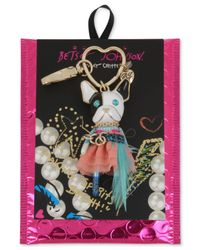 Betsey Johnson | Multicolor Gold-tone Tutu Dog Keychain | Lyst