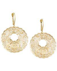 Macy's - Metallic Filigree Leverback Drop Earrings In 14k Gold - Lyst