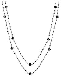 Macy's - Black Diamond Two-strand Station Necklace In 14k White Gold (20 Ct. T.w.) - Lyst