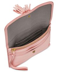 Fossil - Amelia Pink Wristlet Pouch - Lyst