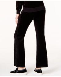 Michael Kors - Black Velour Drawstring Sweatpants - Lyst