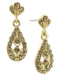 2028 | Metallic Gold-tone Light Colorado Stone Teardrop Earrings, A Macy's Exclusive Style | Lyst