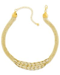 2028 | Metallic Gold-tone Twisted Multi-chain Strand Necklace, A Macy's Exclusive Style | Lyst