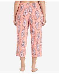Ellen Tracy - Pink Plus Size Cropped Wide-leg Pajama Pants - Lyst