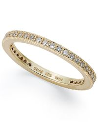 Giani Bernini - Metallic 18k Rose Or Yellow Gold Over Sterling Silver Or Sterling Silver Ring, Cubic Zirconia Band Ring (3/8 Ct. T.w.) - Lyst