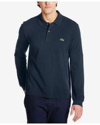 Lacoste | Blue Men's Long Sleeve Pique Polo for Men | Lyst