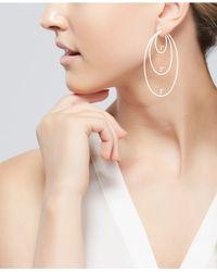 Macy's - Metallic Textured Ball Threader Earrings In 14k Gold, 2 Inch - Lyst