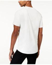Sean John - White Men's Suede Pieced T-shirt for Men - Lyst