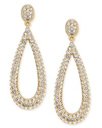 Danori | Metallic Gold-tone Crystal Pavé Teardrop Earrings, | Lyst