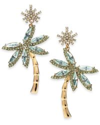 Kate Spade - Metallic 14k Gold-plated Palm Tree Drop Earrings - Lyst