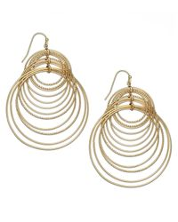 INC International Concepts | Metallic Gold-tone Multi-circle Hook Earrings | Lyst