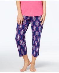 Charter Club - Multicolor Printed Cotton Knit Cropped Pajama Pants, Created For Macy's - Lyst