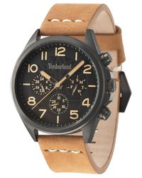 Timberland - Men's Brant Light Brown Leather Strap Watch 45x53mm Tbl14844jsu02 for Men - Lyst