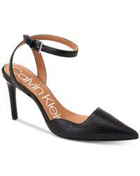 Calvin Klein Black Raffaela Ankle Strap Pump