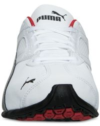 PUMA White Men's Tazon 6 Wide Running Sneakers From Finish Line for men
